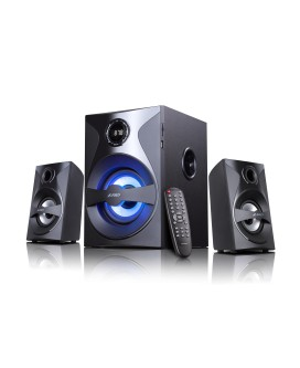 Sistem audio 2.1 F&D F380X , Cititor Card SD si USB, MP3/ WMA player, 35 W RMS
