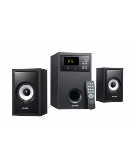 Sistem audio A555U 2.1 F&D, Cititor Card SD si USB, MP3/ WMA player, 56 W RMS