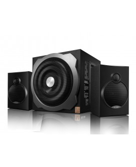 Sistem audio A521 2.1 F&D, Cititor Card SD si USB, MP3/ WMA player, 35 W RMS
